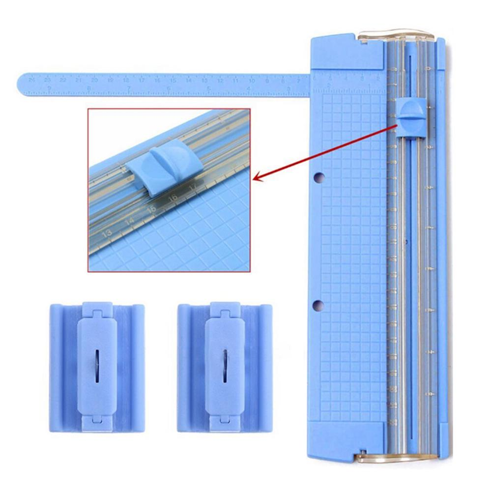 Office Stationery Knife Portable A5/A4 Precision Paper Card Cutting Blade Art Trimmer Photo Cutter Mat Blades Kits