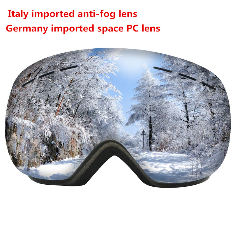 Quality Ski Goggles Double Layers UV400 Anti-fog Big Ski Mask Glasses Skiing Men Women Snow Snowboard Goggles Imported Eyewear