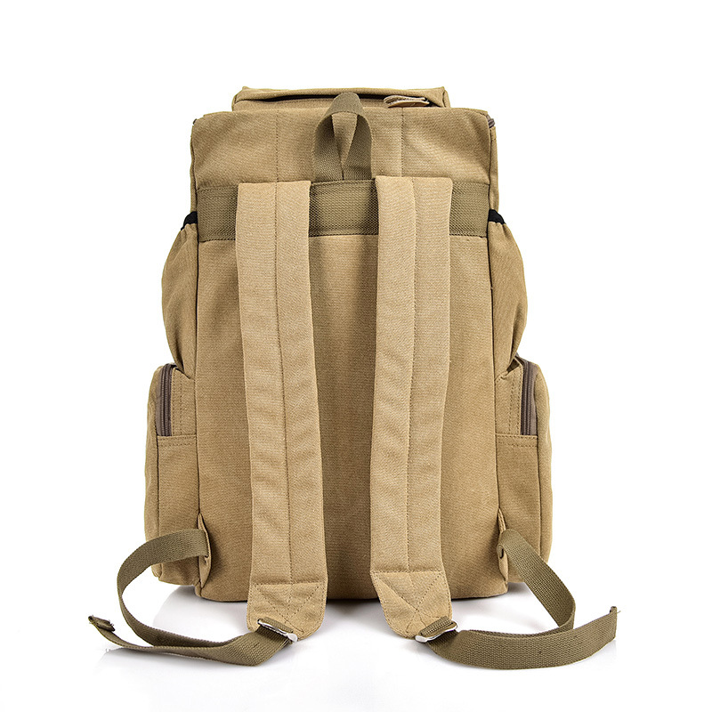 Image 2 - Wellvo Top Quality Canvas Large Capacity Travel Backpacks Men 