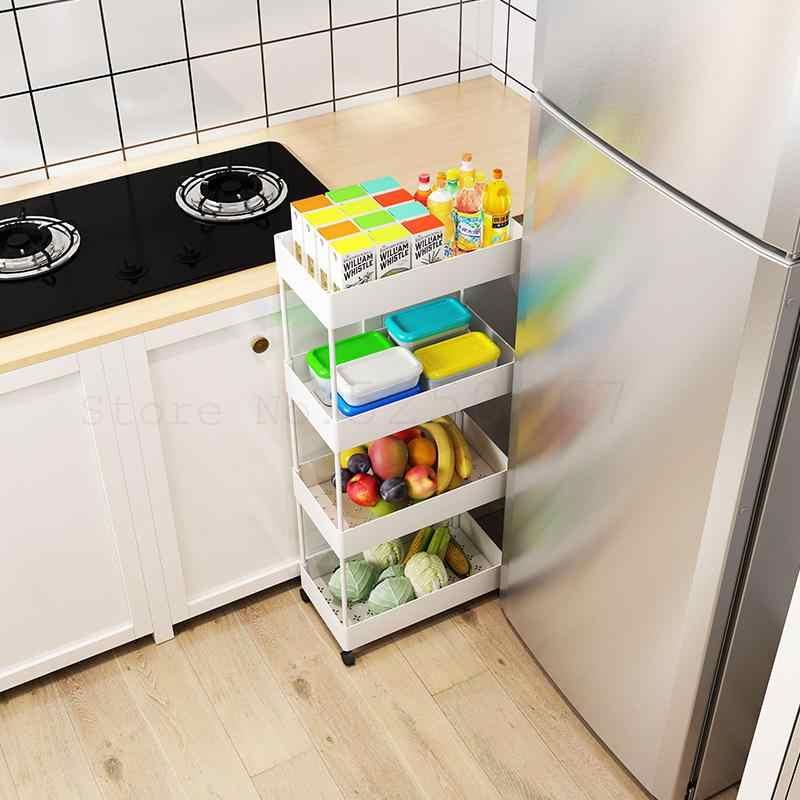 ชั้นวางของ,Multi-ชั้นรถเข็น,ครัวเรือนรอก,Movable ตะกร้าผัก,ชั้นวาง, ผักและผลไม้ตะกร้า