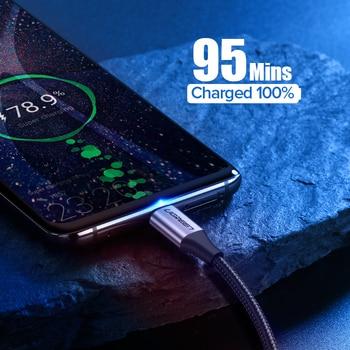 Ugreen Cabo USB tipo C para Samsung S9 S8 Carga rápida Type-C Cabo de carregamento de telefone móvel Cabo USB C para Xiaomi mi9 Redmi note 7 1