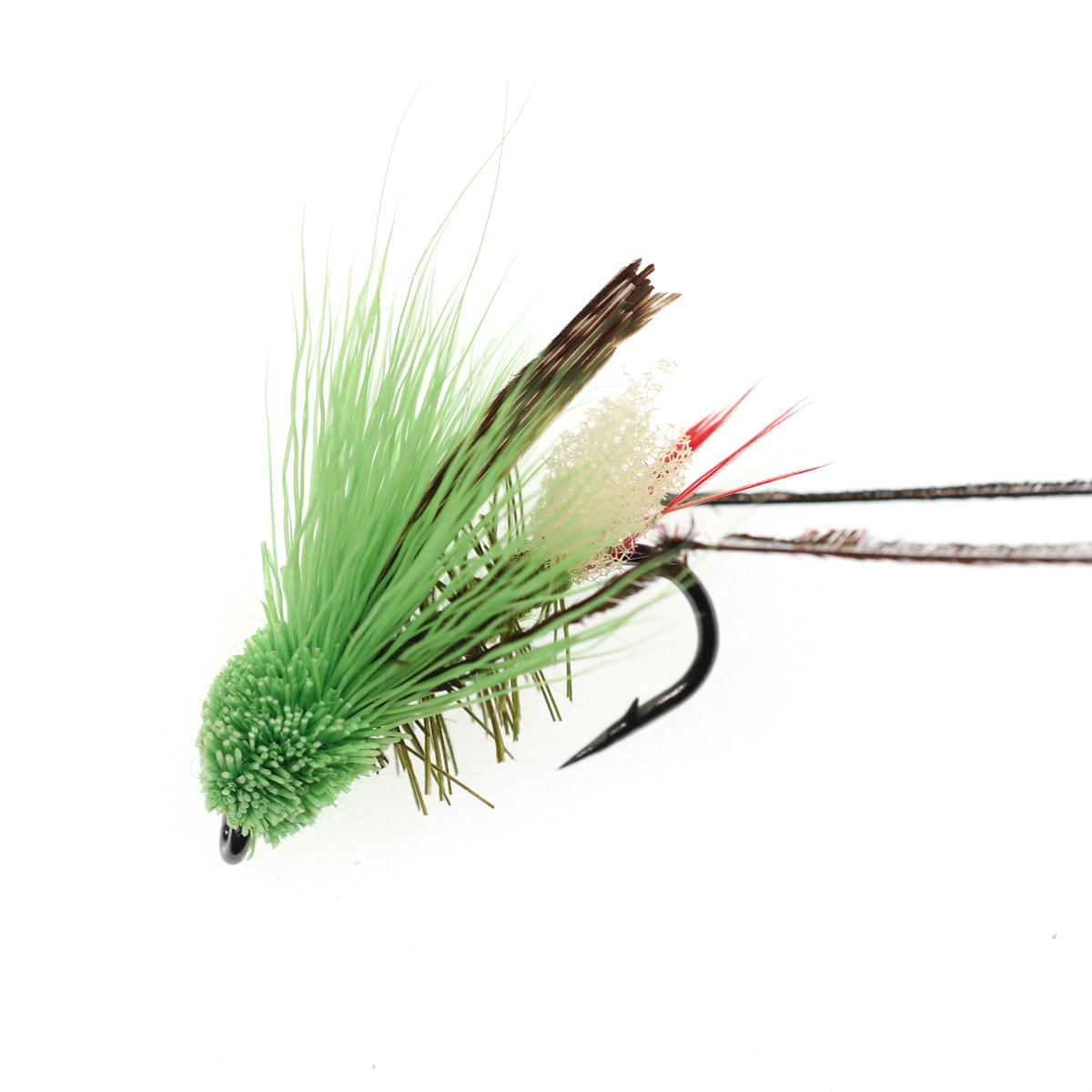 5PCS #10 Trout Fishing Fly Grass Hopper Fly terrestrial Hopper Fly Floating Bass Crappie Bug Bait Artificial Lure 13