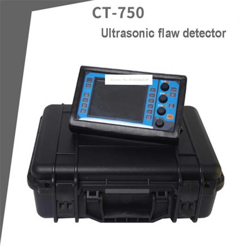 CT-750 портативный цифровой ультразвуковой дефектоскоп Металлическая стальная конструкция сварочный дефект трещина дефект детектор 220 в 0 ~ 6000 мм горячая распродажа