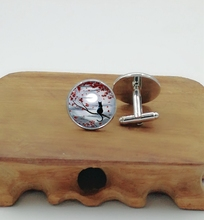 2018 new cufflinks on the red leaves of the cat cuffs cufflinks mens cufflinks red hood and the outlaws vol 1 redemption the new 52