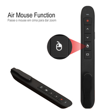 PPT Presentation Laser Pen Rechargeable RF2.4Ghz Wireless Presenter Remote with Air Mouse PowerPoint Control