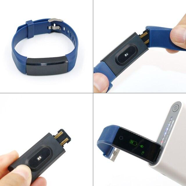 Abay Männer Smart Armband Farbe Bildschirm Sport Smart Band Herz Rate Monitor Frauen Fitness Tracker uhr Smartband smart armband