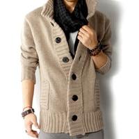 Zogaa 2019 Men Autumn Winter Sweater Coat Slim Fit Knitted Sweatercoat jacket Male stand collar Casual Cardigan Sweaters L 3XL
