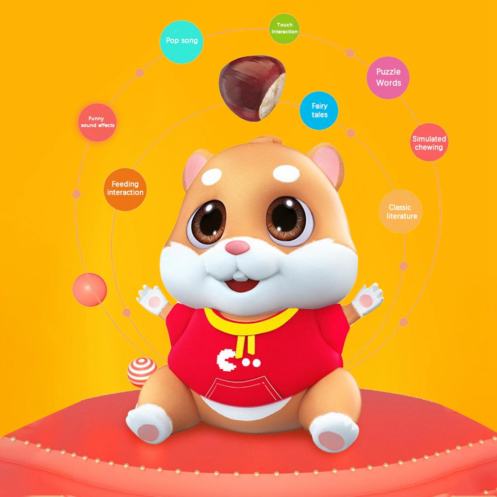 Learning Education Toys Education Speak Talking Toy Mimicry Pet Model Adorable Talking E-at food Hamster Mouse Kid Toys Y1219
