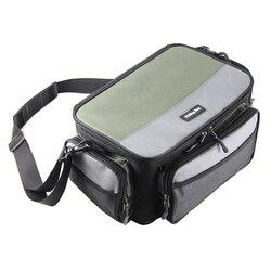 Wielofunkcyjna torba wędkarska Oxford Fishing Lure Reel Gear Package Case czapka z daszkiem przechowywanie sprzętu wędkarskiego w Skrzynie wędkarskie od Sport i rozrywka na