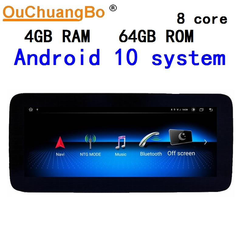 Ouchuangbo audio gps radio for <font><b>Mercedes</b></font> benz B B160 B180 W242 <font><b>W246</b></font> 2016-2018 stereo with <font><b>10.25</b></font> inch DSP 1920*720 android 10.0 image