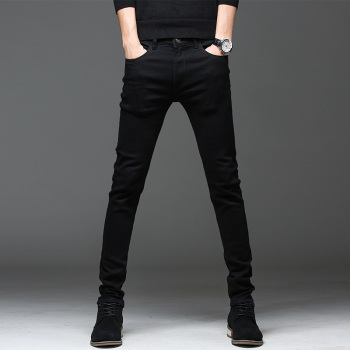 2021 New High Quality Jeans Casual Slim Black Jeans Men's Straight Pencil Pants Fashion Men's Street Tight Men's Denim Trousers 1