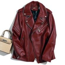 Nuevo Super rocks star con 100% de importación chaquetas de cuero de oveja traje de mujer traje de ancho perfil locomotora de cuero