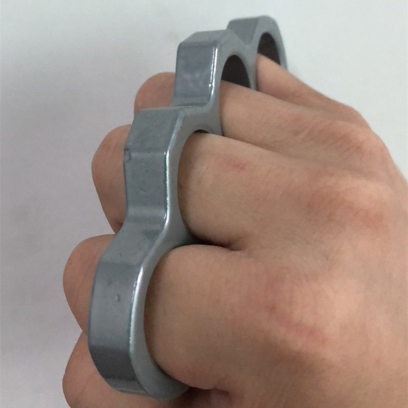 11mm Self-defense Finger Rings Knuckle Four-finger Aluminum Alloy Fiberglass Hand Support Protection Safety Rings Easy To Carry