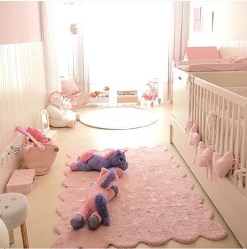 Handmade Dot Kids Crawling Mat Super Soft Cotton Fabric Educational Non-Slip Nursery Rug Best Play Mat Carpet for infant room