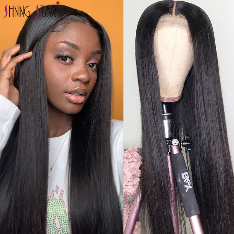 13*4 Lace Front Human Hair Wigs Straight Pre Plucked Lace Frontal Wigs With Baby Hair Brazilian Lace Front Wig Shining Star Remy