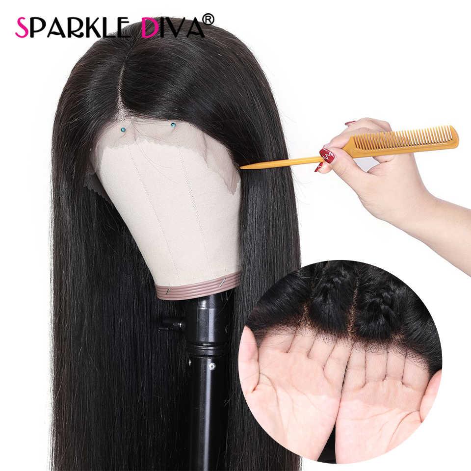 Pelucas de cabello humano recto Pre arrancado con pelo de bebé peruano 13X4 peluca con malla frontal 150% Remy pelucas de cabello humano frontal de encaje para mujeres