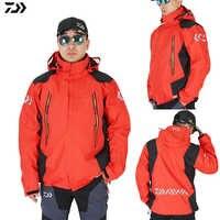 Daiwa chaqueta de pesca abrigo Otoño Invierno mantener caliente impermeable deportes al aire libre de dos piezas traje abajo chaqueta Parka