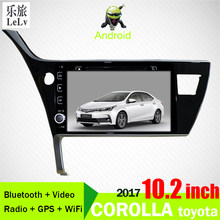 "2 din Android 8.1 For 2017-2019Toyota Corolla(Left Hand Drive) Car navigation Radio Multimedia player Wifi GPS Navigation 10.1""(China)"