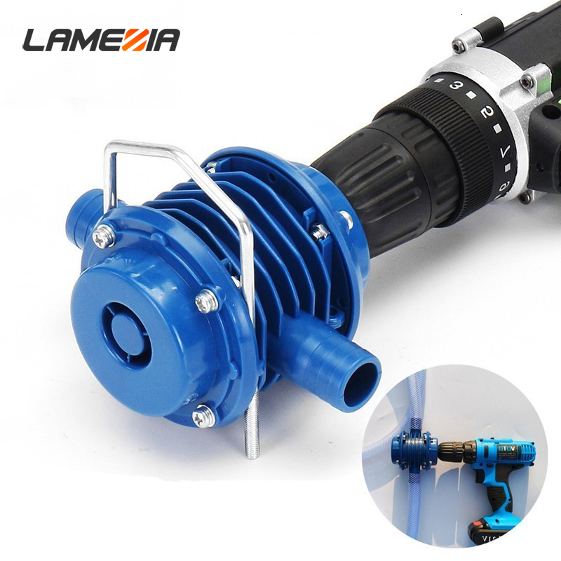 $16.02 LAMEZIA Self-Priming Electric Drill Water Pump Household Mini Duty Home Garden Centrifugal Power Tool Accessories