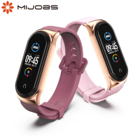 Strap Für Xiaomi Mi Band 5 4 3 6 Silikon Armband Armband Ersatz Für Xiaomi Band 4 MiBand 5 4 3 handgelenk Farbe TPU Gurt