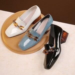 Image 5 - المرأة الشقق أكسفورد أحذية امرأة حقيقية أحذية رياضية من الجلد السيدات تصليحه slipon خمر حذاء كاجوال أوكسفورد أحذية للنساء