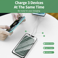 USAMS Wireless Charger Power Bank QC 3.0 PD Fast Charging External Battery Charger Powerbank Xiaomi/iphone/Huawei/Samsung Mobile
