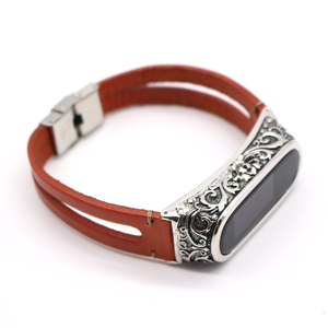Image 4 - Wrist Strap for Xiaomi Mi Band 4 Genuine Leather Watchband Strap for Mi Band 5 Bracelet Accessories for Xiaomi Band 4 Wristband