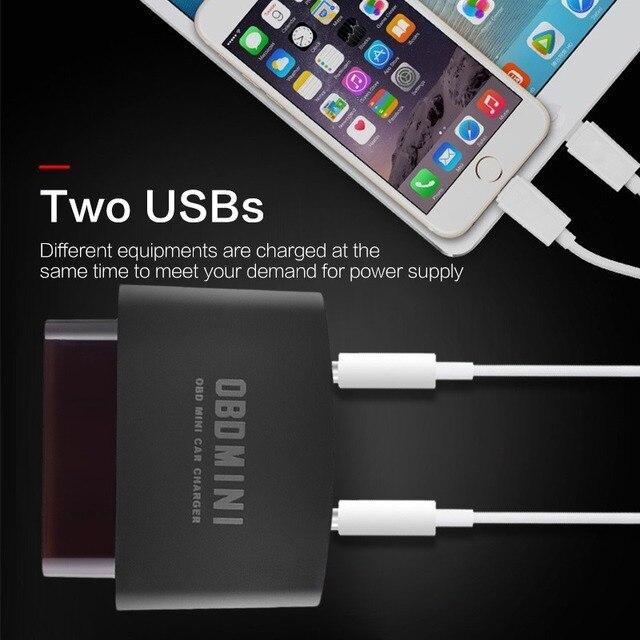 OBD à Interface USB adaptateur de chargeur | Outil de voiture, prise Usb universelle, Charge rapide