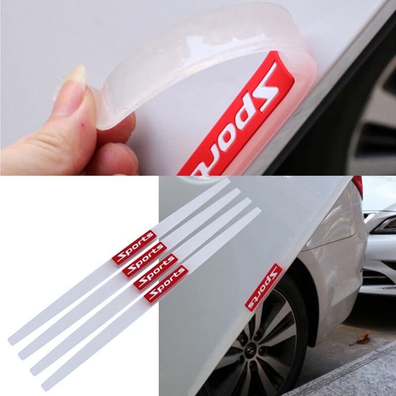 Универсальные защитные полосы для края двери автомобиля, протектор для зеркала заднего вида, резиновая защита для переднего и заднего бамп...