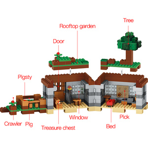 Image 3 - 408pcs 첫 번째 밤 모험 쉼터 모델 빌딩 블록 마을 Eductional 벽돌 장난감 어린이위한