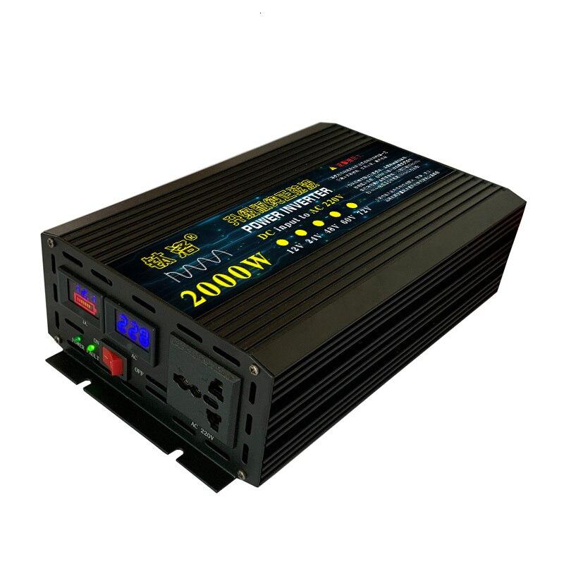 Vehicle Household Pure Sine Wave Inverter Transformation Power Supply Boost Organ 12v24v48v60v, Change 220v2000w