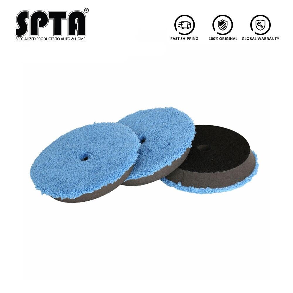 """Spta 3 pces almofada de polimento de acabamento rápido 6 """"(150mm) almofadas de buffer de polimento kits de almofada de polimento micro fibra para 5"""" da/ro polidor"""