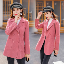 Large Size Stylish Ladies Blazer Solid Pink Loose Casual Suit Jacket Long Sleeve Simple Veste Blazer Korean Women Blazer MM60NXZ