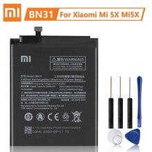 XiaoMi 원래 교체 배터리 BN31 Xiaomi Mi 5X Mi5X A1 MiA1 Redmi 참고 5A Y1 Lite S2 정통 전화 배터리 3080mAh