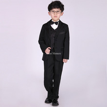 5pcs per set M90 Child Clothes 2021 Boys' Attire Blazers Jackets Children Boys Suits for Wedding Kid Blazers + Pants Prom Suit