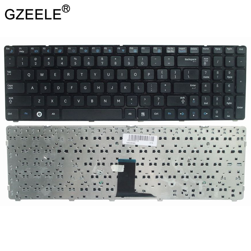 Laptop Accessories  US Laptop Keyboard For Samsung R580 R590 R590E R578 E852 Black Color Laptop Keyboard