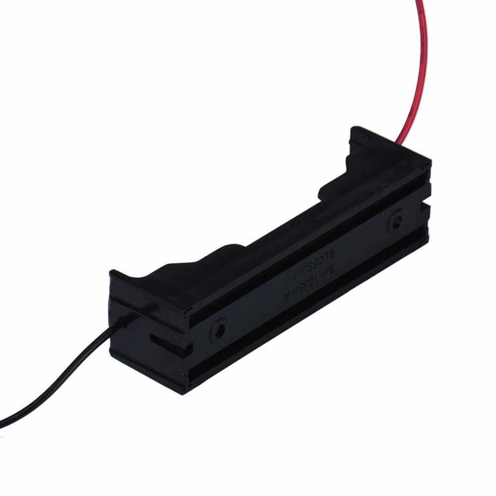 Support de la boîte pour 1x18650 boîte bricolage batterie externe 18650 batterie boîte de support circuit noir avec fils fils plastique batterie mallette de rangement