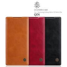 case for Samsung Note 10 Plus Nillkin QIN Protective flip Cover Leather Case for Samsung Galaxy Note 10 /Note 10+ 5G nillkin protective pu leather pc flip open case for samsung g360 black