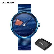 купить SINOBI Creative Men Fashion Watch Blue Milan Strap Quartz Wristwatches Man Rotate Dial  Watches Sports Watches relogio masculino онлайн