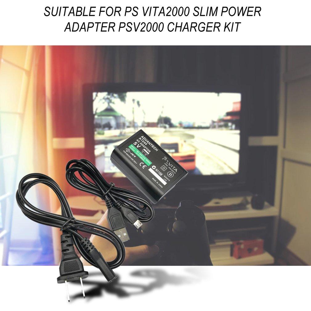 ЕС/США Plug домашнее зарядное устройство питание 5 в адаптер переменного тока с usb-разъемом кабель для зарядки шнур для sony playstation psv ita Slim PS Vita psv 2000