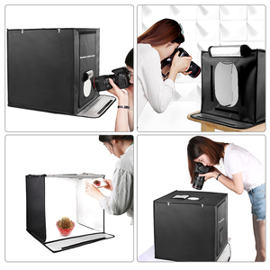 Image 5 - 40/50/60cm Photography LED Studio Lightbox Photo Light Tent Kit Tabletop Shooting SoftBox with 3 Colors Background Photo Box