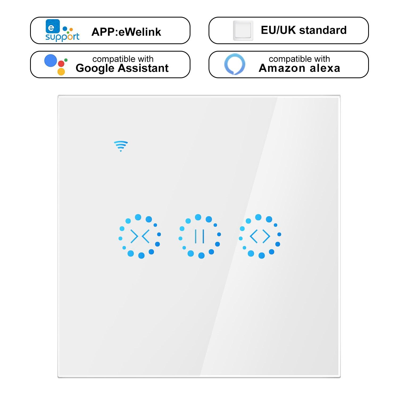 10PCS Ewelink Smart Curtain Motor Electrical WiFi Switch Touch APP Voice Control By Alexa Echo Google Home AC 110V 220V  EU/US