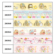 5 Yards 16mm/25mm/38mm Beautiful Sumikkogurashi Cartoon Printed Grosgrain Ribbon for DIY  Hair Accessories