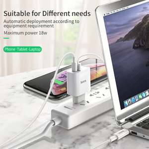Image 5 - HOCO 18W USB PD Quick Charge Wall Charger Adapter QC3.0/2.0 Fast Charger with Type C to Lightning Fast charging Cable