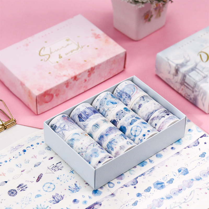 Decorative Washi Tape Set Cute Japanese Paper Stickers Scrapbooking Vintage Adhesive DIY Stationery Tape
