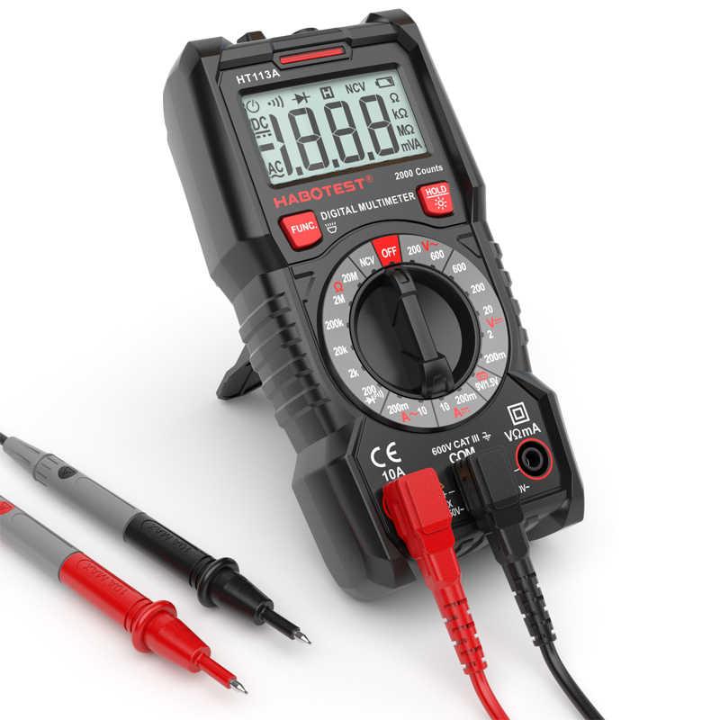 Habotest HT113A digitale mini multimeter tester profesional transistor tester multitester multi meter