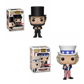 Funko POP-figuras de acción de la historia americana, juguetes de colección de...