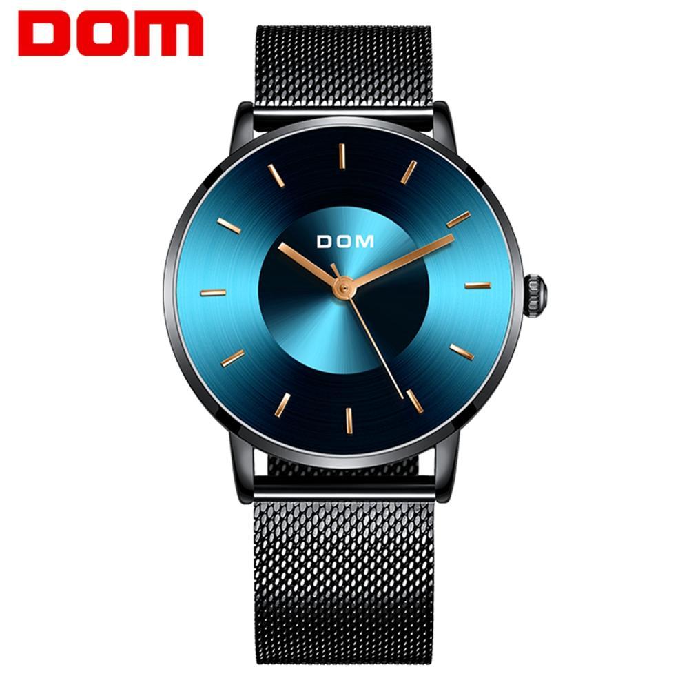 DOM Watch Men Fashion Sport Quartz Clock Mens Watches Top Brand Luxury Business Waterproof Watch Relogio Masculino M-1289BK-2M