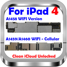 Free iCloud Original Unlocked for Ipad 4 Motherboard,Wifi Version for Ipad 4 Mainboard with Chips,100% Test & Good working A1458