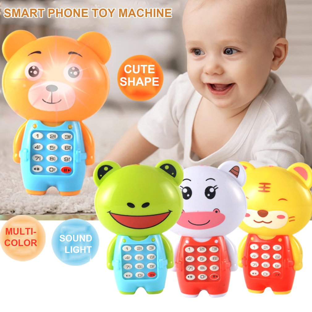 Cartoon Music Phone Glowing Children Puzzle Baby Gift Children Music Phone Practical Portable Wear-resistant Toys